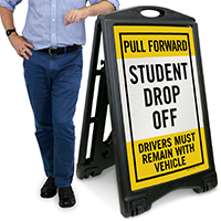 Student Drop Off, Drivers Must Remain Sign