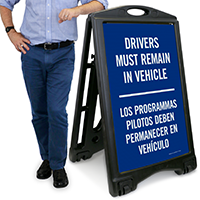 Drivers, Must Remain in Vehicle Sign