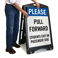 Please Pull Forward, Students Exit Sign