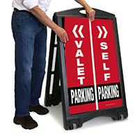 Valet/Self Parking Sign