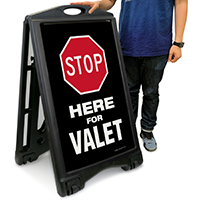 STOP Here For Valet Sign