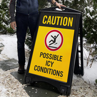 Possible Icy Conditions Sign