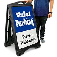 Valet Parking, Please Wait Here Sign
