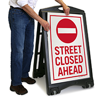 Street Closed Ahead Sign