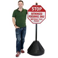 Big Boy XL Roll 'n' Pole Portable Sign Holder