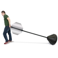 Pole Portable Sign Holder With Cone Shaped base