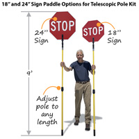 Paddle and telescopic pole