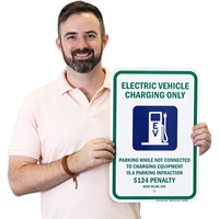 Electrical Car Sign with Graphic
