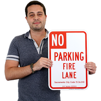 State No Parking Fire Lane Sign