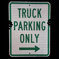 Truck Parking Only with Right Arrow Sign