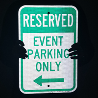 Event Parking Only Sign