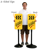 portable valet parking sign