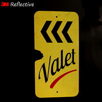 Reflective valet parking signs