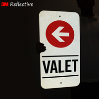 Reflective valet signs