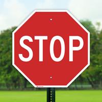 STOP Aluminum Sign