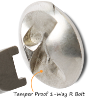 Tamper-Proof U-Channel Post Bracket