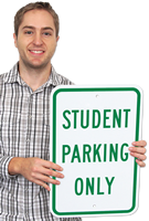 Reserved Parking Sign For Student Only