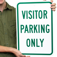 Visitor Parking Only Reserved Sign