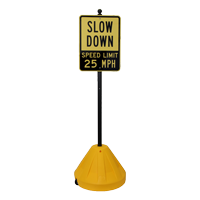 Roll 'n' Pole Portable Sign Holder