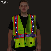 LED Safety Vest with Rechargeable Battery