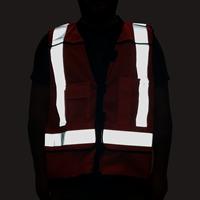 High Visibility Reflective Safety Vest Orange