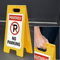 No Parking Plastic Floor Sign