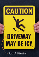 Caution Icy Driveway Sign