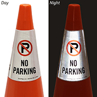 No Parking Cone Sign