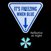 Ice alert reflector at night