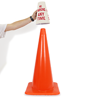 No Parking Cone Message Collar Sign