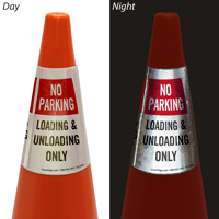 No Parking Loading And Unloading Cone Collar Sign