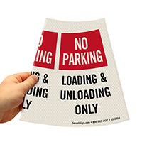 Cone Message Collar Parking Sign