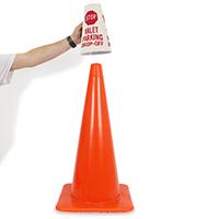 Stop - Valet Parking Drop - Off Parking Sign