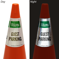 Welcome Guest Parking Cone Message Collar Sign