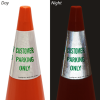 Customer Parking Only Cone Message Collar Sign