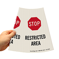 Restricted Area Pasrking Sign