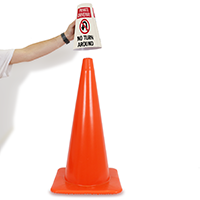 Cone Message Collar Private Driveway Road Traffic Sign