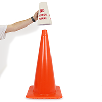 No Overnight Parking Cone Sleeves