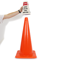 Reserved Unauthorized Vehicles Towed Cone Message Collar