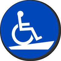 Handicap Symbol for Ramp Access Floor Sign