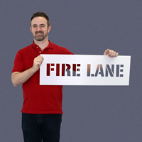 Fire Lane Sign Pavement Stencil
