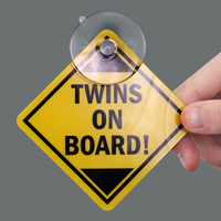 Twins On-Board Car Hang Tags and Label