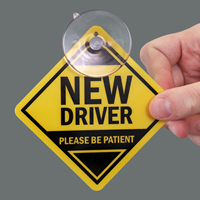 New Driver Car Hang Tags and Label