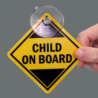 Child On-Board Car Hang Tags and Label