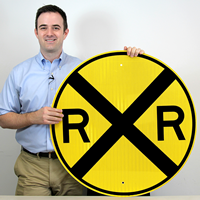 Cicular Railroad Crossing Sign