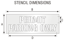Stencil ST 0255