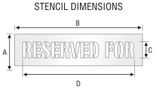 Stencil ST 0314