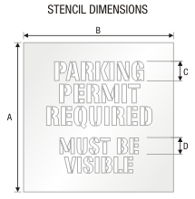Stencil ST 0317