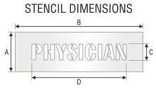 Stencil ST 0417