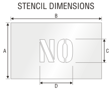 Stencil ST 0422